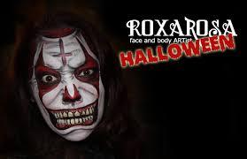 roxarosa face paint tutorial scary clown youtube