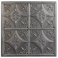 Used Tin Ceiling Tiles For Sale by Cathedral Antique Nickel Faux Tin Ceiling Tiles