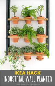 hyllis ikea hack industrial wall planter ikea hack industrial