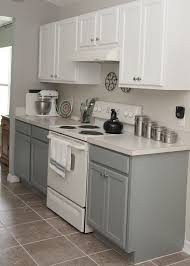 Two Tone Kitchen Cabinets Simple Two Tone Kitchen Cabinets In Bright And Grey Colors With