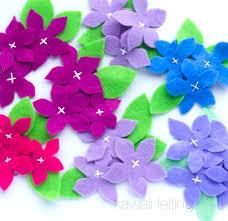 felt flowers easy felt flower hair clip tutorial diy kawaii needle felting