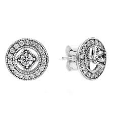detachable earrings pandora vintage detachable stud earrings w milgrain details