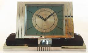 art deco french desk clock by jaz at 1stdibs
