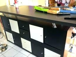 fabriquer table haute cuisine bar de cuisine avec rangement table de bar avec rangement table