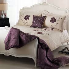 elegant floral bedspread cotton blend embroidered bedding bed