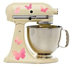 amazon com pretty pink butterflies kitchenaid mixer mixing