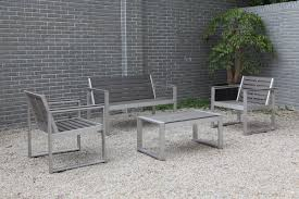 Resin Wood Outdoor Furniture by Lane 4 Piece Poly Resin Wood Sofa Set Hl Ln Al 4ss Patio Productions