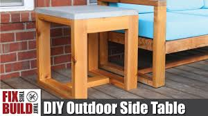 concrete outdoor side table diy outdoor side table with concrete top 2x4 challenge how to