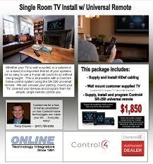 Home Technologies by Single Room Tv W Universal Remote U2014 Online