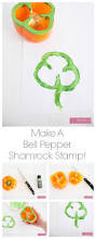 craftaholics anonymous how to make bell pepper shamrock stamps