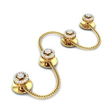 d damas gold earrings diamond yellow gold 18k damas diamond kurta buttons