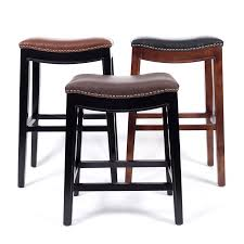 Barstool Chair Aliexpress Com Buy Wooden Bar Stool Chair Leather Cushions Seat