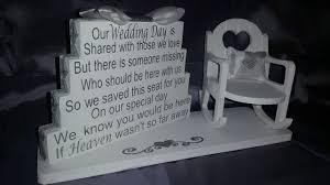 wedding memorial wedding memorial ornament empty chair saved fo folksy