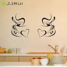 diner k che jjrui 2 kaffeetassen küche wandaufkleber vinyl kunst aufkleber