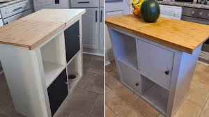 build kitchen island ikea cabinets creates amazing kitchen island for just 36 and saves