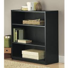3 Shelf Bookcase With Doors Mainstays 3 Shelf Standard Wood Bookcase Colors