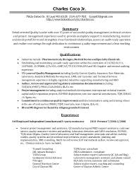 project management experience resume coco quality management resume dec102014