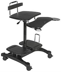 Mobile Laptop Desk Adjustable Mobile Laptop Desk Multi Shelf Black Wheeled Stand