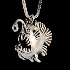 silver fish necklace images Angler fish necklace angler fish charm fish jewelry jpg