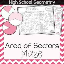 Area Of Sector Worksheet Area Of Sectors Maze By Amazing Mathematics Teachers Pay Teachers