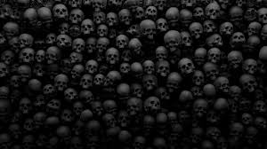 halloween skull background spooky wallpapers group 81