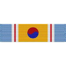 korean service ribbon republic of korea war service medal ribbon usamm