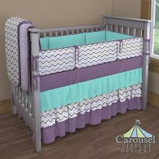 Grey Chevron Crib Bedding Set Nursery Beddings Teal And Gray Bedding In Conjunction With Teal
