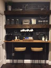 coffee bar for a small space copy cat of the one on fixer upper