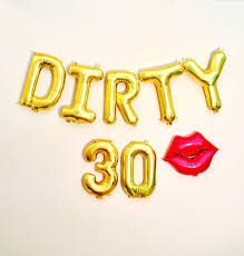 30th Birthday Decorations Luxury Dirty 30 Balloons Dirty 30 Party
