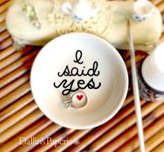 engagement ring dish engagement ring dish engagement gift i said yes painted