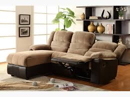 Brown Sectional Sofa With Chaise Two Tone Sectional Sofa With One Reclining Seat And Chaise Lounge