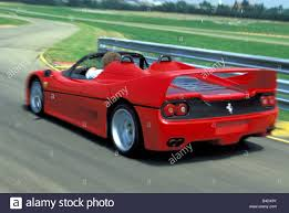 ferrari back view car ferrari f50 model year 1995 2002 red roadster convertible
