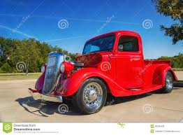 Vintage Ford Pickup Truck - red 1935 ford pickup truck editorial stock photo image 46225403