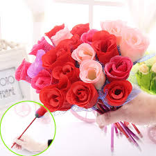 Valentine Decorating Ideas For Office by Aliexpress Com Buy Rose Ballpoint Pen New Creative Flower
