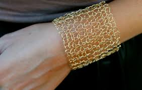 gold simple bracelet images Simple wide gold cuff bracelet sexy metallic wire mesh gold wire jpg
