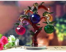 Apple Home Decor Popular Crystal Tree Apple Buy Cheap Crystal Tree Apple Lots From