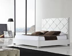 Verona Bed Frame Verona Bed In White Half Leather By Casabianca