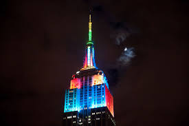 animated halloween lights leds light up nyc for the empire state building halloween light