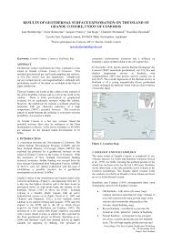 bureau des stages 10 results of geothermal surface exploration pdf available