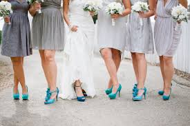 Light Gray Bridesmaid Dress Black Bridesmaid Dresses With Bright Mix And Match Shoes