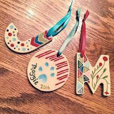 custom ceramic initial ornaments