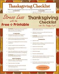 free printable thanksgiving checklist thanksgiving free printable