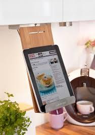 cr r livre de cuisine support à tablette et livre pour étagère idéal cuisine en bois