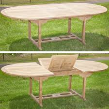 Teak Furniture Patio Dining Tables Teak Furniture Oval Extending Table Dining Outdoor