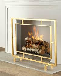 fireplace screen modern fireplace screens by west elm modern