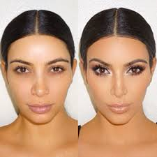 kim kardashian without makeup see how diffe she looks before and after her beauty routine