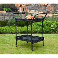 wicker patio serving cart free shipping today overstock com
