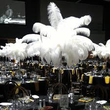 Ostrich Feather Centerpiece 5ft Tall Eiffel Tower Ostrich Feather Centerpiece With White