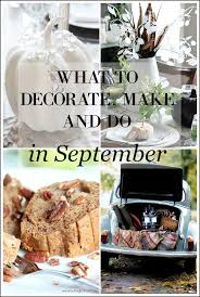 september decorating ideas what to decorate make and do in september setting for four