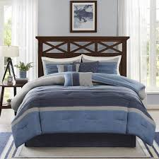 Navy Blue And Gray Bedding Shop Madison Park Collins Comforters Navy The Home Decorating
